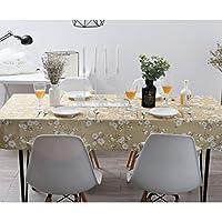 テーブルクロスダイニングテーブルカバーダイニングテーブルカバー長方形の正方形のパターンカントリースタイルの綿厚さ耐熱綿リネンキッチンダイニングルーム (Color : Yellow, Size : 60*60CM)