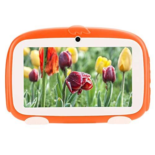Tableta para niños para Google, tableta HD con lector electrónico de aprendizaje de 1GB + 16GB, tableta inteligente para niños, tableta educativa de aprendizaje, 7 pulgadas naranja (Enchufe europeo)
