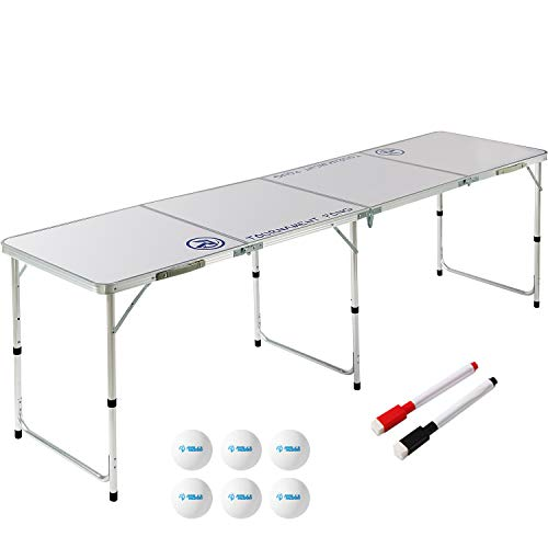 8 Foot Beer Pong Table DRY ERASE by Rally and Roar - Portable Party Drinking Games - Official 8ft x...