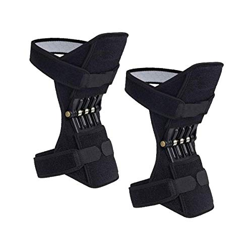 2 Packs Madala Power Knee Brace Joint Support, Power Knee Stabilizer Pads, Protective Gear Booster with Powerful Springs for Men/Women weak Legs, Arthritis, Meniscus Tear Pain, Fitness and Sport