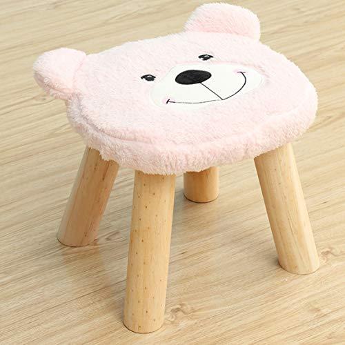 CKH kleine kruk, massief hout, kindersalontafel krukken, woonkamer bank krukken, krukken, krukken, roze