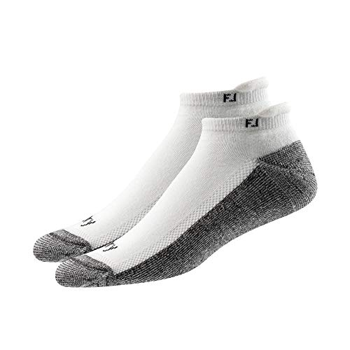 FootJoy Men's ProDry Roll Tab 2-Pack Socks White Size 7-12