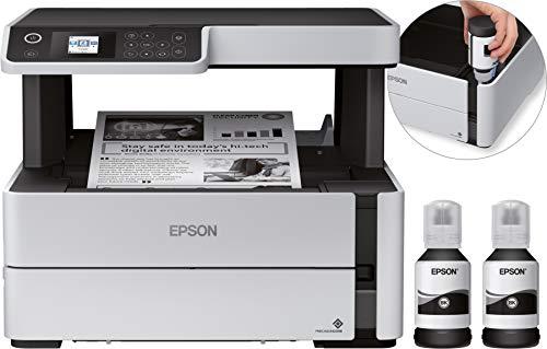 Epson EcoTank ET-M2170 Inyección de tinta 39 ppm A4 Wifi - Impresora multifunción (Inyección de tinta, Impresión en blanco y negro, 250 hojas, A4, Impresión directa, Negro, Gris, Blanco)