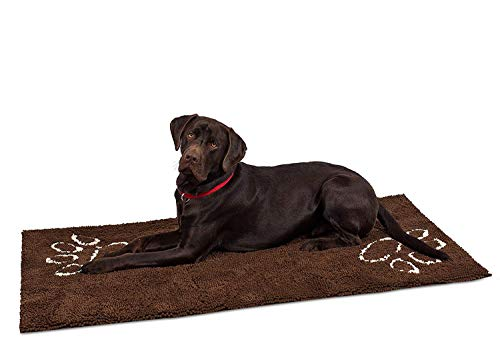 Internet's Best Chenille Dog Doormat - 60 x 30' - Absorbent Surface - Non-Skid Bottom - Protects Floors
