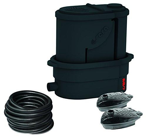sera 08650 KOI Professional 24000 Teichfilter mit 2x Filterpumpe PP 12000 sowie Schlauch inkl. 30 l sera siporax pond 25 mm und Matala-Matte