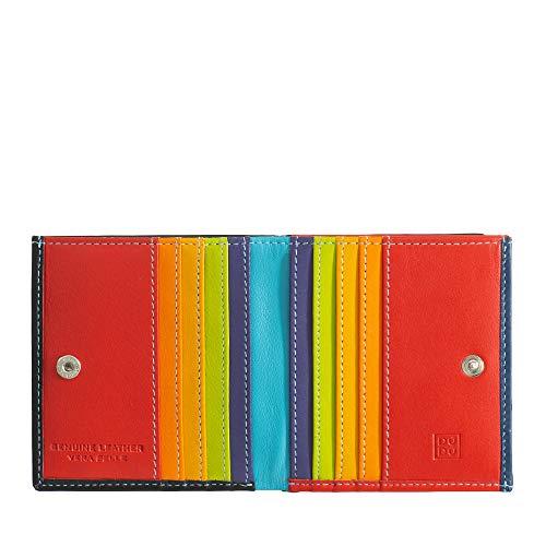 DuduBags Mehrfarbiges Portemonnaie in Leder mit Kartensteckfächer und Münzfach von DuDu Schwarz