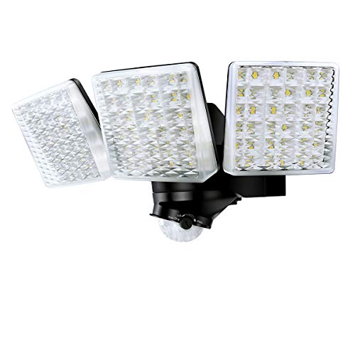 STASUN 30W LED Strahler mit einstellbarem Bewegungsmelder, 180° Erfassungswinkel, 3000LM, 5000K Tageslichtweiß, Wasserdichtes Flutlich