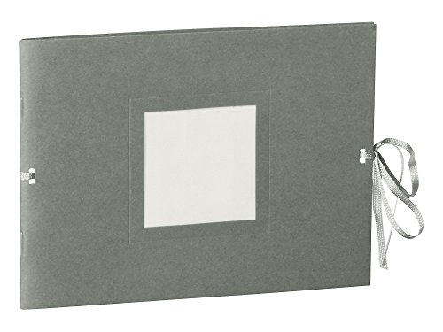 Semikolon (351547) Fotoheft Photo Booklet Landscape grey (grau)-Fotoalbum mit 20 cremefarbenem Seiten - Mini Foto-Buch im Format: 19 x 14 cm