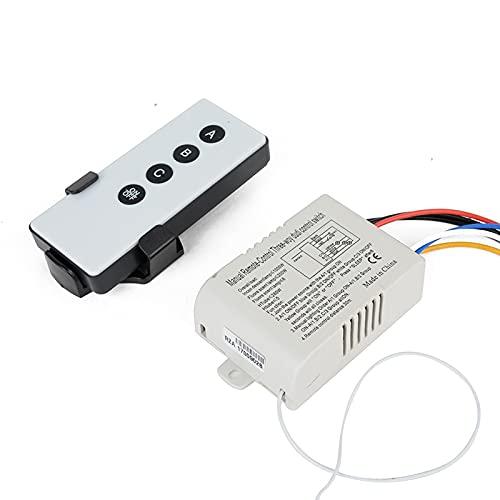 Interruptor de control remoto digital de 220 V inalámbrico de 3 vías de encendido/apagado, lámpara de luz digital interruptor de pared con control remoto