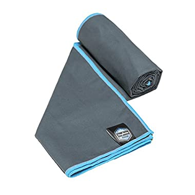 Youphoria Sport Towel and Travel Towel - Super Absorbent and Quick Drying! Camping, Beach, Pool, Gym or Bath. 100% Satisfaction Guarantee! (GrayBlue, 28  x 56 )