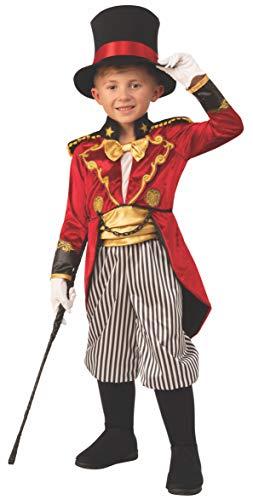 Boys Ringmaster Circus Showman Fancy Dress Costu