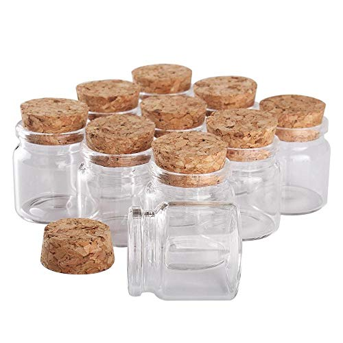 KOLOSM Botella 24pcs Mini Glass Wishing Wishing Botting Tiny Jars Frascos con tapón de Corcho Regalo de Boda (Color : A)