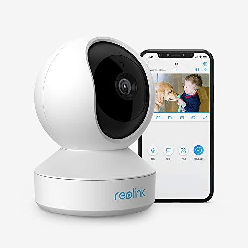 Reolink WLAN IP Kamera schwenkbar, Überwachungskamera Innen Handy 3MP HD mit 2,4 GHz WLAN, 355° Schwenk- / 50° Neigung, Zwei-Wege-Audio, IR-Nachtsicht und Bewegungserkennung, E1