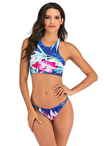 YAOMEI Damski dwuczęściowy kostium kąpielowy, wyszczuplający brzuch, strój kąpielowy, jednoczęściowy, z wbudowaną miseczką, spa, strój plażowy, strój kąpielowy, moda kąpielowa