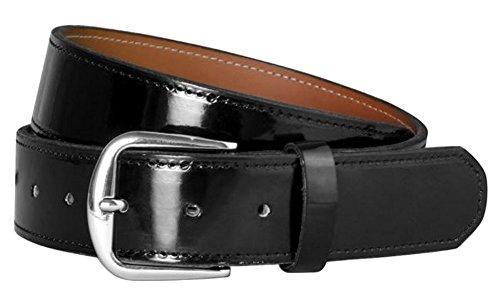 CHAMPRO Patent Leather Belt; Adult; Black, Adult Large (A068BL)