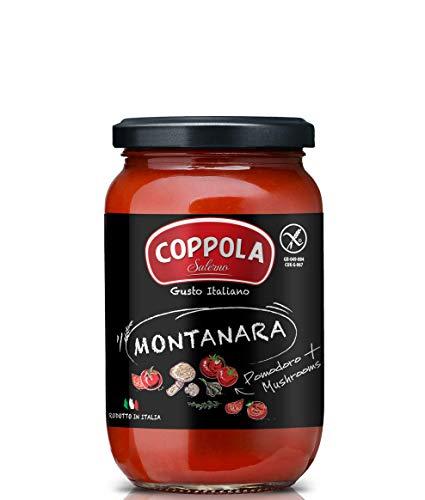 Coppola Sugo Montanara – Salsa de tomate con setas - Sin azúcar añadida 350 g (Caja de 6)