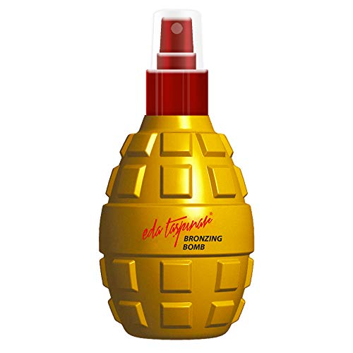 Eda Taspinar Bronzing Bomb, Tanning Oil Spray for Accelerated Dark Mediterranean Tan, All Eyes On You! SPF 0, 200 ml (6.8 oz), 1 Pack