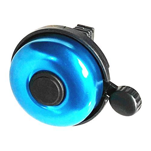 GCDN Fahrradklingel, Mountainbike-Klingel, solide Farbe, Aluminiumlegierung, klassischer Ring, regendicht, lauter Klang, einfache Installation am Fahrradlenker, blau, Free Size