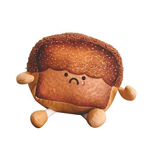 PYUIYY Plüschtiere Cuddly Weichem Brot Toast Plüsch Spielzeug Gefüllte Puppe Stofftier Kuscheltier Pillow-Puppe Geschenk für Kinder Mädchen Jungen Freundin(Gold,17x17x11CM)