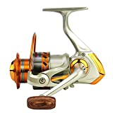 Ultralight Spinning Reel Ice Fishing Reel Light Weight, Ultra Smooth Size EF500 (EF500-champagne)