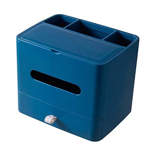 Dispensador de toallas Caja dispensadora de tejido multifuncional con caja de almacenamiento de almacenamiento de espejo de cosméticos Caja de tejido facial para mantener el escritorio ordenado y mant