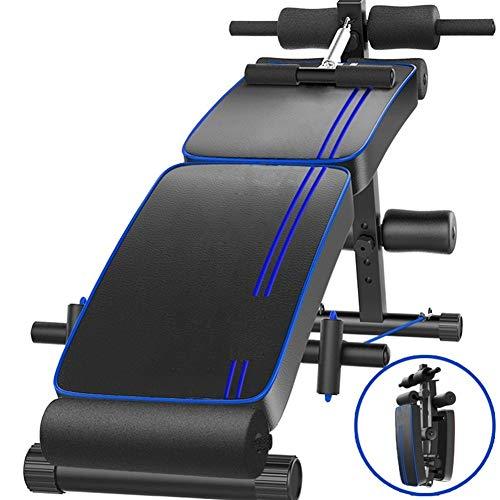 Xiao Tian Multifunktionales doppelt zusammenklappbares Rückenbrett, sicheres und Komfortables Gerät for das Bauchmuskeltraining bei Männern und zu Hause
