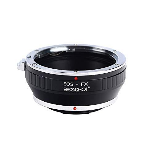 Beschoi EOS-FX Objektiv Adapter für Canon EOS EF/EF-S Objektiv auf Fujifilm X-Bajonett Kameragehäuse wie Fuji Finepix X-T10, X-T1, X-E2, X-E1, X-A2, X-A1, X-M1, X-Pro1