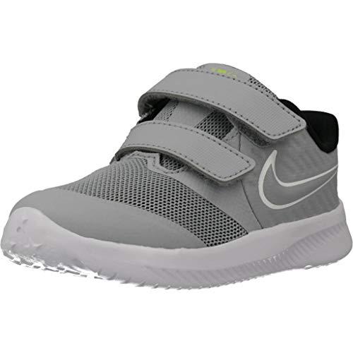 Nike Star Runner 2 (TDV), Sneaker Unisex-Baby, Wolf Grey/White-Black-Volt, 25 EU