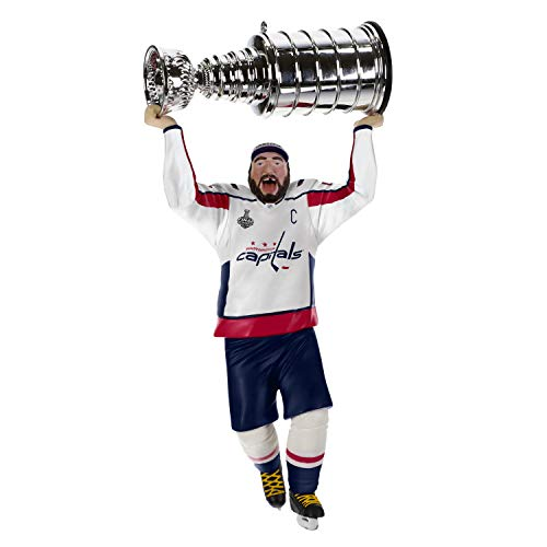 Hallmark Keepsake Christmas Ornaments 2019 Year Dated, NHL Washington Capitals Stanley Cup MVP Alex Ovechkin Hockey Player Ornament