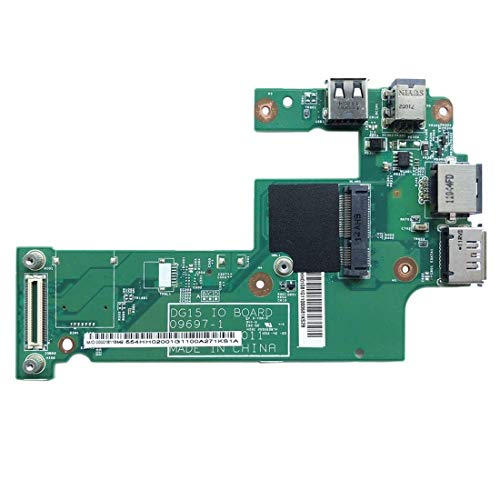 XHC Replacement Repair for USB Charger Board DC Jack Board LAN Board DG15 IO Power Board 09697-1 for Dell Inspiron 15R N5010 Smartphone