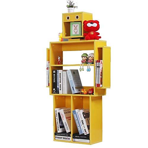 Mebeauty-hm Libreria per Bambini Bambini Bookshelf organizzatore e Bagagli Bookshelf for i Bambini Display Stand Mensola per Giocattoli (Colore : Giallo, Dimensione : 60x140x24cm)