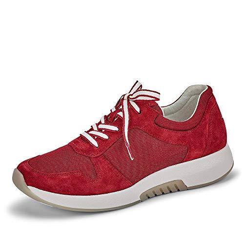 Gabor Damen Sneaker, Frauen Low-Top Sneaker,Optifit- Wechselfußbett, schnürschuh, 40.5 EU, Red Rot