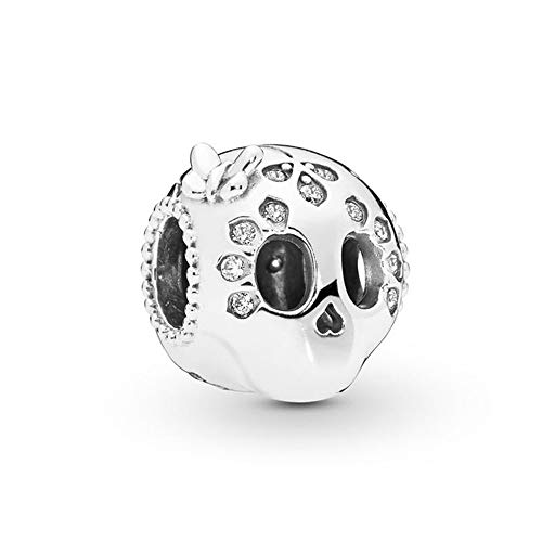 Pandora 925 Jewelry Bracelet Natural Authentic Sterling Silver Bead Sparkling Skull Charm Fit Fashion Pan Bangle Suitable For Women Diy Gift