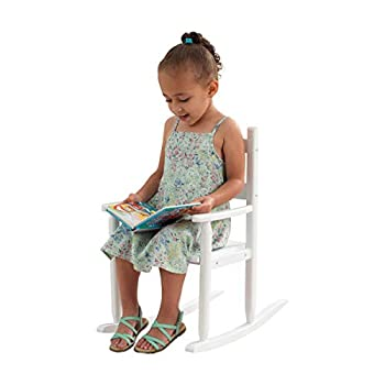 KidKraft Classic Wooden Rocking Chair Children s Furniture - White Gift for Ages 3-8