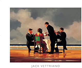 Elegy for a Dead Admiral Jack Vettriano Love Print, Overall Size: 19.5x15.75, Image Size: 15.75x12.25