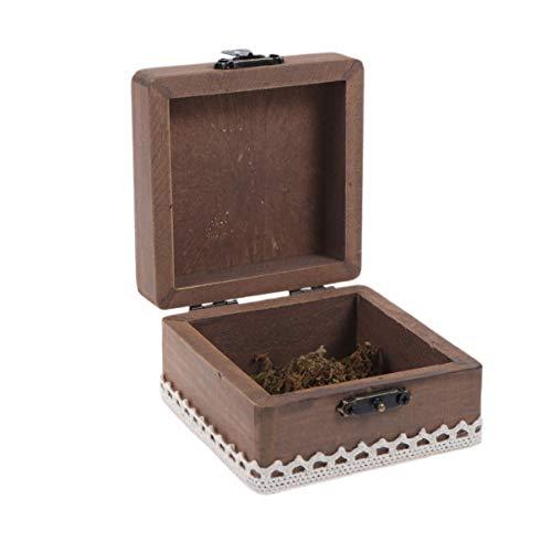 VALICLUD Caja de Anillo de Madera Caja de Joyería Rústica para Propuesta de Compromiso Caja de Portador de Anillo de Boda Caja de Regalo de Anillo-Jaula de Pájaros