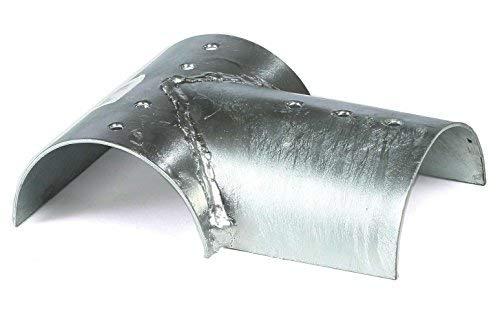 Holzverbinder T-Form für 3x Balken rund Ø 10 cm Pfostenverbinder Stahl von Gartenpirat®