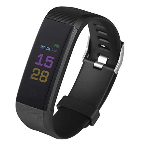 ErYao Fitness Tracker,Activity Health Tracker Waterproof Smart Watch Wristband with Blood Pressure Heart Rate Sleep Monitor Pedometer Step Calorie Counter Find My Phone for Android iOS (Black)