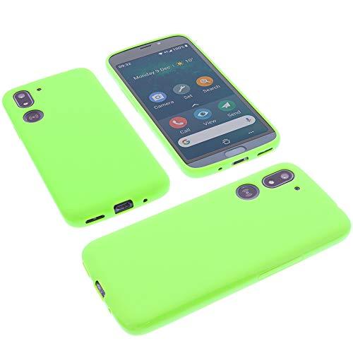 foto-kontor Hülle für Doro 8050/8050 Plus Tasche Gummi TPU Schutz Handytasche grün
