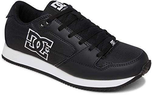 DC Women's Alias Skate Shoe, Black/White, 8 B M US
