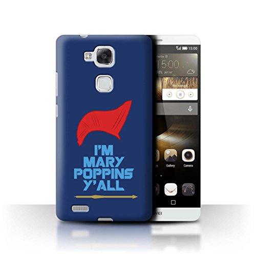 Hülle Für Huawei Ascend Mate7 Comic Wächter Inspiriert Mary Poppins Y'all Design Transparent Ultra Dünn Klar Hart Schutz Handyhülle Case