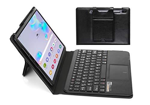 MQ für Galaxy Tab S6 10.5 - Bluetooth Tastatur Tasche mit Multifunktions-Touchpad für Samsung Galaxy Tab S6 10.5 | Tastatur Hülle für Galaxy Tab S6 10.5 LTE SM-T865 WiFi T860 | Tastatur Deutsch QWERTZ