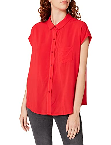 United Colors of Benetton Camicia 5SF05QCM5 Camisa, Rojo 015, XL para Mujer