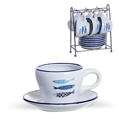 Vidal Regalos Juego de Cafe Mediterraneo 6x100 ml