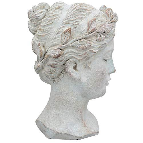 matches21 - Busto de mujer con corona, grande, cerámica,