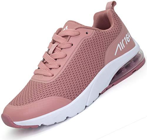 Mishansha Air Laufschuhe Damen Sportschuhe Dämpfung Turnschuhe Atmungsaktive Fitnessschuhe Walkingschuhe Sneaker Schuhe Pink,39 EU