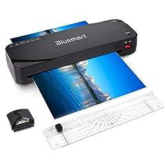 Urządzenie do laminowania, urządzenie do laminowania Blusmart A4, jednostka laminowania termicznego 4 w 1, 9 cali, 20 toreb do laminowania, nożyce do papieru, zaokrąglenie narożne