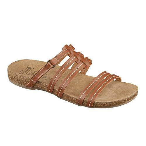 Feliz Caminar - Sandalia Piel Antideslizantes y Cómodas para Hombre y Mujer | Frescas para Vestir en Epocas de Calor Verano Primavera | Modelo Sana 7300
