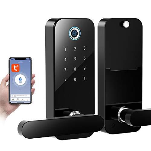 Tuya Smart Lock F11S - Serratura per porta 4 in 1, con funzione touch screen e Bluetooth, APP Keyless Entry, per casa, ufficio, hotel
