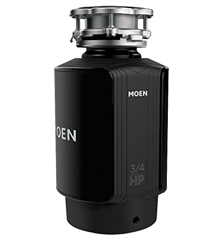 Moen GX75C Host Series 3/4 Horsepower Continuous Feed Compact Garbage Disposal, Power Cord Included